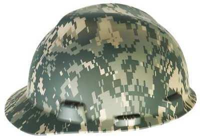 MSA 10103908 Hard Hat,FrtBrim,Slttd,4Rtcht,Camouflage