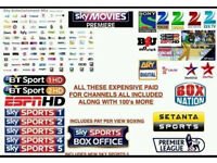 Satellite TV Box & 12 Month Gift/Warranty