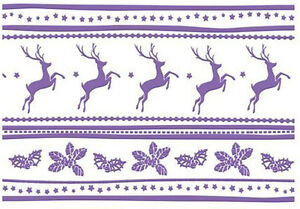 Couture Creations A2 REINDEER JOY embossing folder -$8