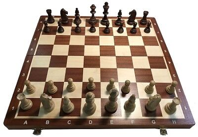 "Wood Tournament Chess Set 6 -  Folding 21"" Board, 2 1/4"" Squares, 3 3/4"" King"
