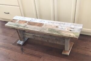 Wooden Bench - Rustic Barn Board - Rustic but well made