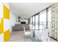 Gym, Private balcony with views of the O2 in this 11th floor apartment in Canary Wharf