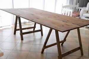 Hire: Wooden Trestle Tables Landsdale Wanneroo Area Preview