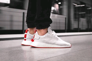 Adidas nmd r2 white red Lakemba Canterbury Area Preview