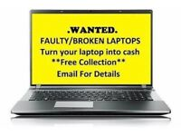 Wanted broken laptops