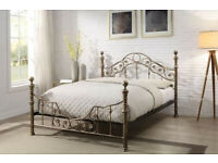 BED FRAME - SALCOMBE ANTIQUE STYLE(King Size)