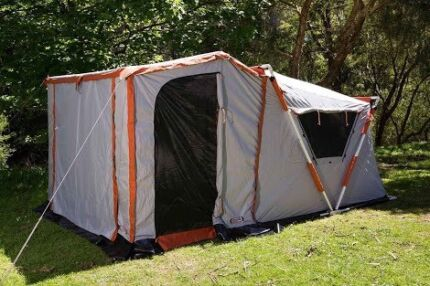 Speedy Earth 6 Man Canvas Touring Tent - Side and Front Pannels