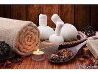 Relaxing thai hot oil massage