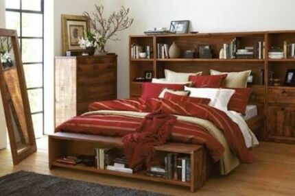 King Size Library Bed For