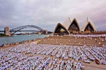 Diner en blanc x2 tickets Central, Rose Bay or Nth Syd options