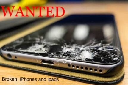 WANTED.....   broken , smashed not working  iPhones and iPads