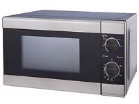 Microwave Oven 17L Black & Silver