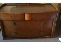 Art Deco style dresser unit . Dressing table and mirror . Vintage . Super condition