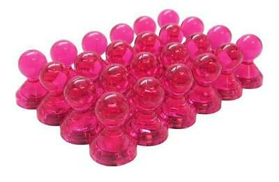 Small Pink Translucent Magnetic Push Pins 24 Pack