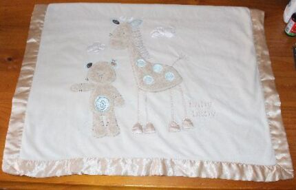 Beautiful Satin Edged Baby Blanket W/Embroidery Werribee Wyndham Area Preview