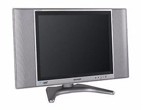 """Sharp 20"""" Aquos LCD TV with wall bracket attached"""