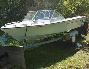 1976  17ft sangster 50hp Johnson outboard
