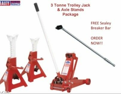 SEALEY 3010CX TROLLEY JACK 3TON + AXLE STANDS