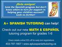 NEW Math & Español tutoring program for KIDS!!