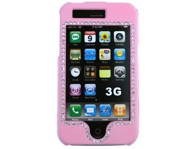Iphone 3g Diamond (Diamond Rubberized Case Pink For Apple iPhone 3G S )