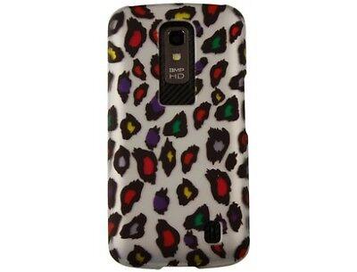 Rubberized Plastic Protector Case Color Leopard design for Motorola DROID 4