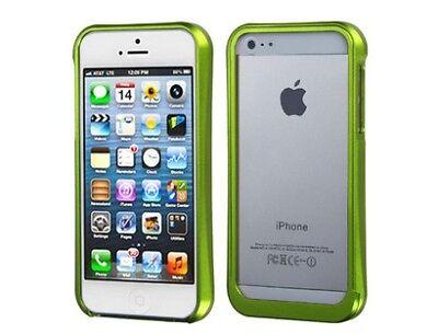 Surround Aluminum Bumper Shield (Surround Shield Green Aluminum Bumper Phone Case for Apple iPhone 5 5G )
