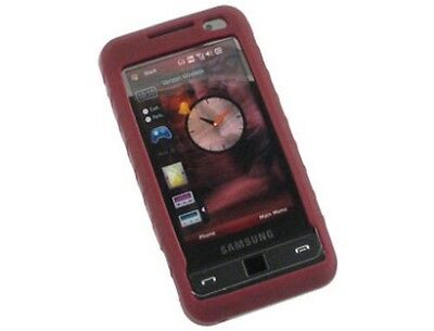 Phone Protector Flexible Silicone Burgundy Case Cover For Samsung Omnia -