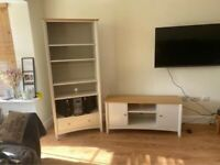 John Lewis tv stand and book case
