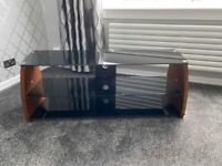 Stunning Solid Wood & Glass Tv Stand
