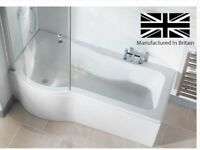 Galaxia Left hand 1700mm P shaped bath
