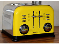 Yellow 4 slice toaster