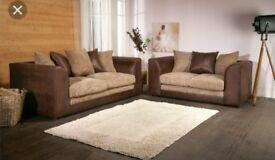 NEW Dylan 3&2 sofas brown mocha colour
