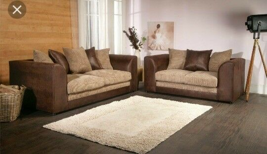 NEW Dylan 3&2 sofas brown mocha colour