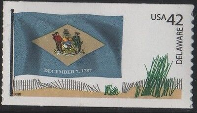 US 2008 SCOTT 4282 DELAWARE STATE FLAG 42C FLAGS OF OUR NATION SET 1 MVF STAMP