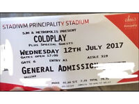 Two tickets for Coldplay 12/7/17