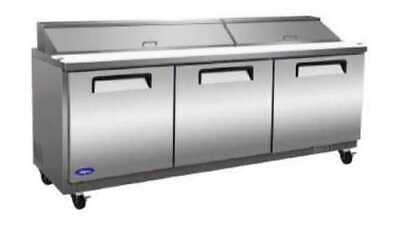 Valpro Vp72sm 72 3-door Megatop Sandwich Salad Prep Table Cooler Refrigerator