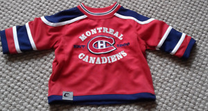 WORN ONCE - excellent condition - CANADIENS JERSEY 18months