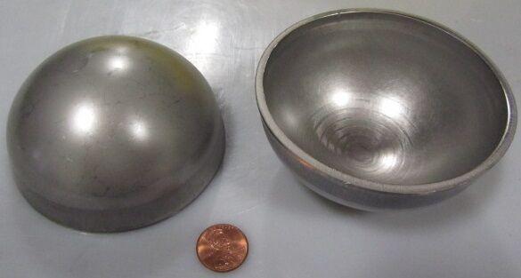 "304 Stainless Steel Half Sphere / Balls 3.50"" Diameter x 1.75"" Height, 3 Pieces"