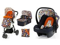 Cosatto Giggle 2 Fable Travel System (car seat, pram, buggy, nappy bag)