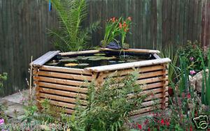 600 Gallon Fish Koi Pond Wooden Raised Garden Pool With