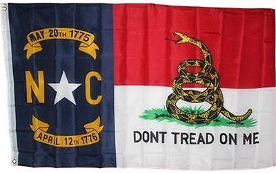 North Carolina DON'T TREAD ON ME State Flag 3x5 ft Gadsden Rattlesnake Snake NC for sale  Charleston