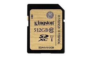 Kingston Technology SDXC Class 10 UHS-I 90 Read 45 Write Flash Card 512GB Condition: New
