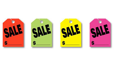 Mirror Hang Tags - SALE $ Price - Jumbo Car Mirror Hang Tags Sale Pricing Signs (50 Per Pack)