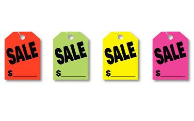 Sale   Price   Jumbo Car Mirror Hang Tags Sale Pricing Signs  50 Per Pack