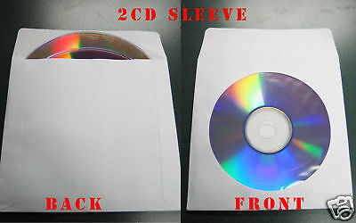 1000 New Double 2 Cd Paper Window Sleevegum Flapjs214
