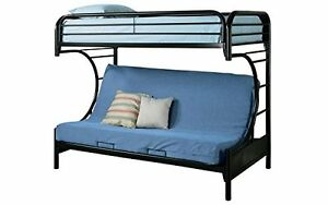 Futon Bunk Bed - Twin Over Double (Black) by FMD, 500 on Amazon