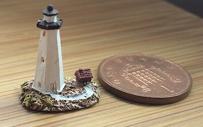 Tiny Lighthouse 4. Dolls House Miniature. Room Ornament 1.12 Scale