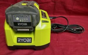 2 Ryobi 40volt batteries and 2 chargers