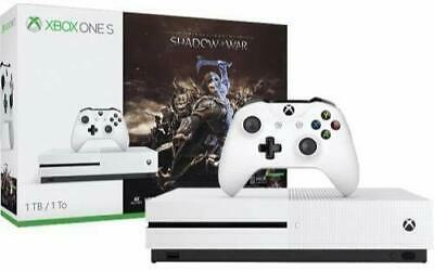 Xbox One S 1TB Console - Shadow of War Bundle