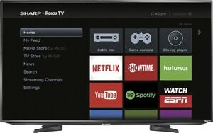 "50"" Sharp 1080p LED Roku Smart TV"